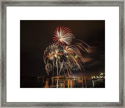 Fireworks - 8 Framed Print by Tom Clark