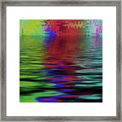 Fireworks Abstract Framed Print by Bonnie Bruno