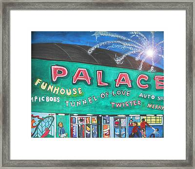 Fireworks At The Palace Framed Print by Patricia Arroyo