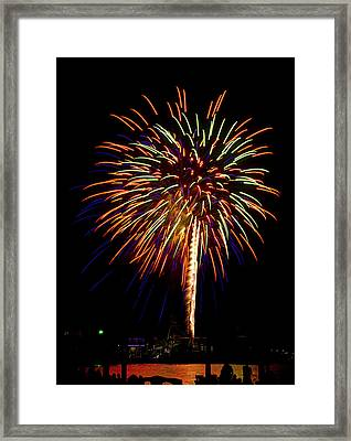 Framed Print featuring the photograph Fireworks by Bill Barber