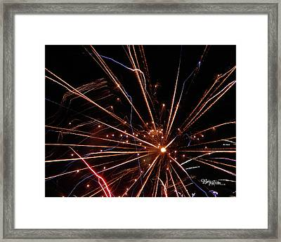 Framed Print featuring the photograph Fireworks Blast #0703 by Barbara Tristan