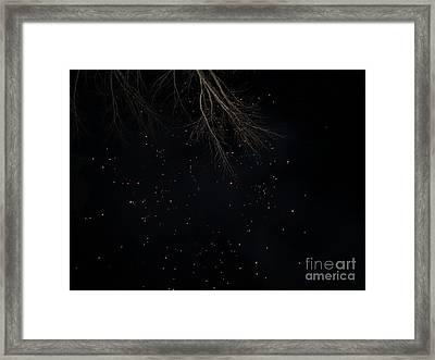 Fireworks Burst Year End Framed Print