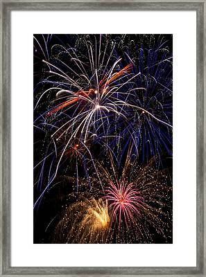 Fireworks Celebration  Framed Print
