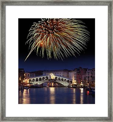 Fireworks Display, Venice Framed Print by Tony Craddock