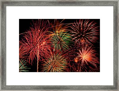 Fireworks Framed Print by Erik Watts