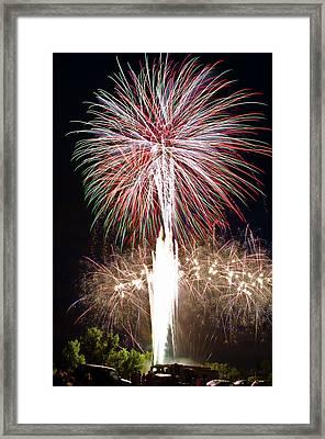Fireworks Framed Print by Ernesto Grossmann