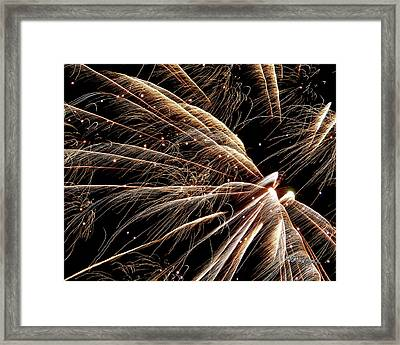 Framed Print featuring the photograph Fireworks Evolution #0710 by Barbara Tristan