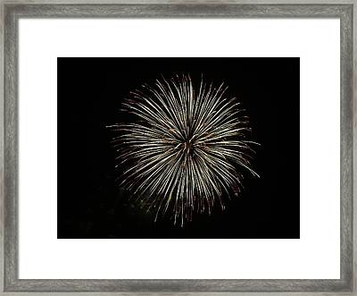Fireworks From A Boat - 2 Framed Print