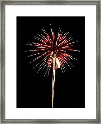Fireworks From A Boat - 4 Framed Print