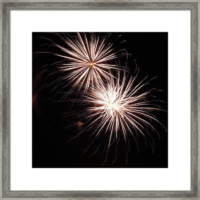 Fireworks From A Boat - 5 Framed Print