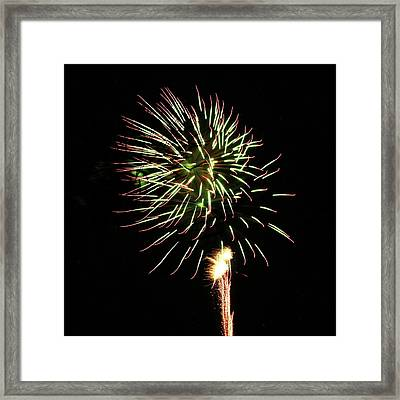 Fireworks From A Boat - 8 Framed Print