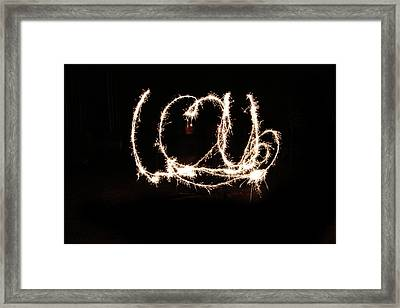 Fireworks Fun Framed Print by Richard Mitchell