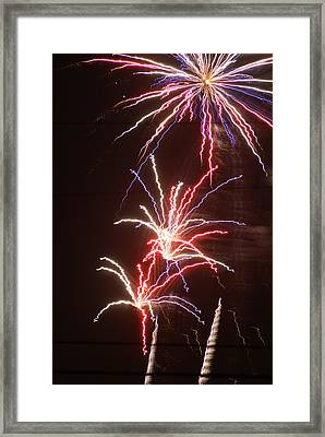 Fireworks Framed Print by Heather Green