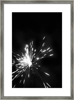 Fireworks In Black And White 1 Framed Print by Kelly Hazel