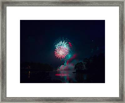 Fireworks In The Country Framed Print