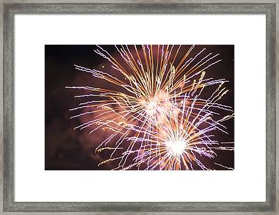 Framed Print featuring the digital art Fireworks In The Park 3 by Gary Baird