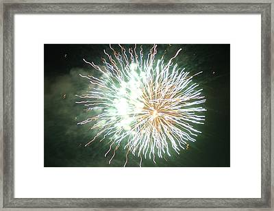 Framed Print featuring the digital art Fireworks In The Park 4 by Gary Baird