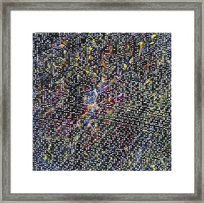 Fireworks Framed Print by Joan De Bot