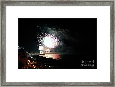 Fireworks Framed Print by LDS Dya