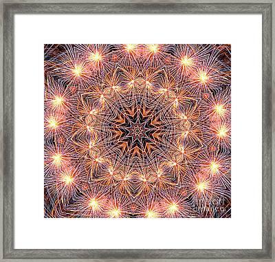 Fireworks Mandala By Kaye Menner Framed Print