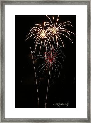 Fireworks Framed Print by Marti Buckely