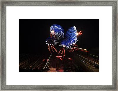 Fireworks Framed Print by Mike Santis