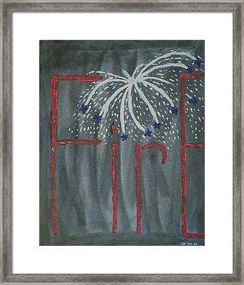 Fireworks Framed Print by Nannette Kelly