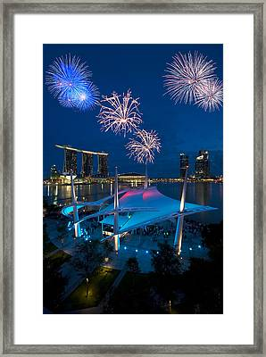 Fireworks Framed Print by Ng Hock How