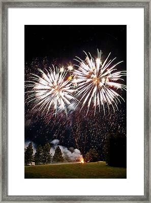 Fireworks No.5 Framed Print by Niels Nielsen