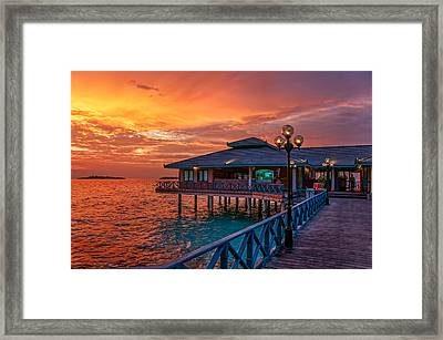 Fireworks Of Colors. Maldives Framed Print by Jenny Rainbow