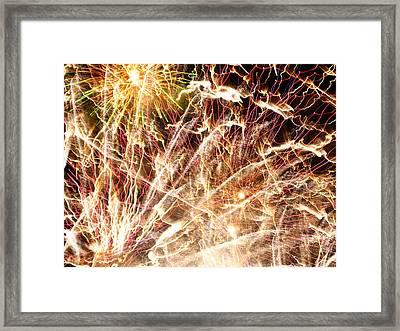Fireworks Framed Print by Oliver Johnston