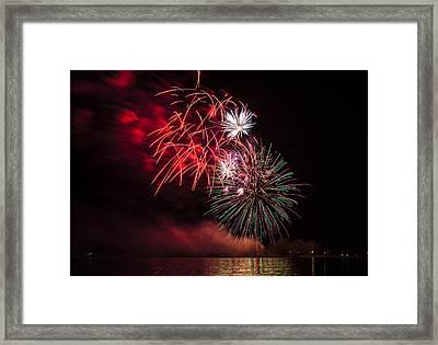 Fireworks On Lake Ontario Framed Print