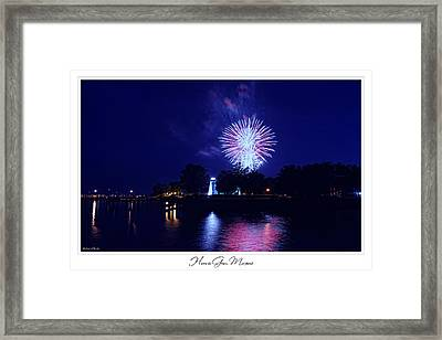 Fireworks Over Concord Point Lighthouse Havre De Grace Maryland Prints For Sale Framed Print by Michael Grubb
