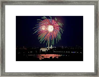 Fireworks Over The Pentagon Framed Print by FL collection