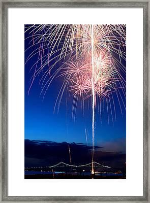 Fireworks Framed Print by Ravi Kiran
