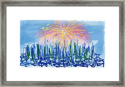 Fireworks Framed Print by Robert Yaeger