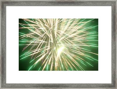 Fireworks Framed Print by Ronald Britton