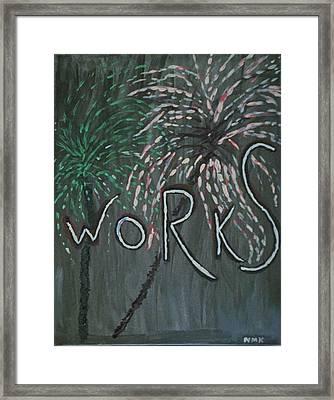 Fireworks Set- Part 2 Framed Print by Nannette Kelly