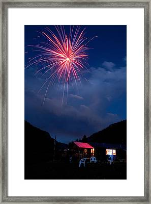 Fireworks Show In The Mountains Framed Print by James BO  Insogna