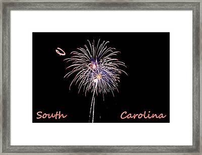 Fireworks South Carolina Framed Print by Lisa Wooten