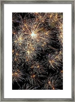 Framed Print featuring the photograph Fireworks by Suzanne Stout
