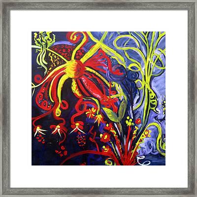 Fireworks Three Framed Print by Rebecca Merola