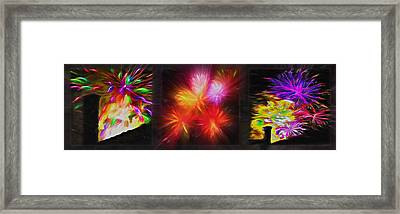 Fireworks Triptych 2 Framed Print