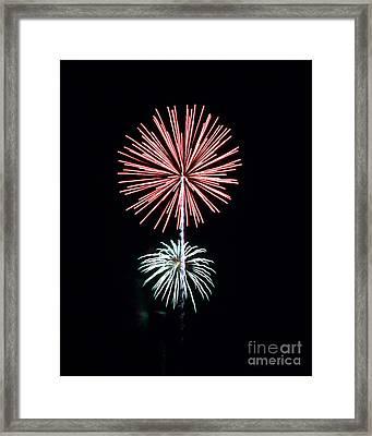 Fireworks6 Framed Print by Malcolm Howard
