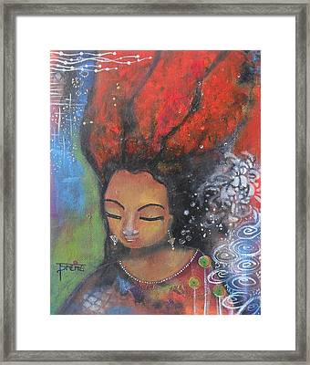 Firey Hair Girl Framed Print
