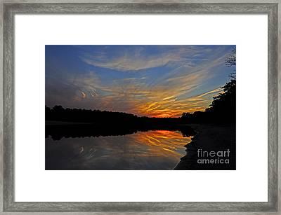 Firey Night Framed Print by Paul Gitto