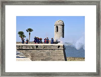 Firing On The British Framed Print by David Lee Thompson