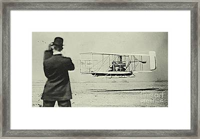 First Airplane Fight In New York Framed Print