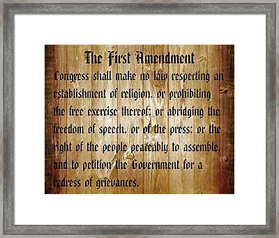 First Amendment Barn Door Framed Print