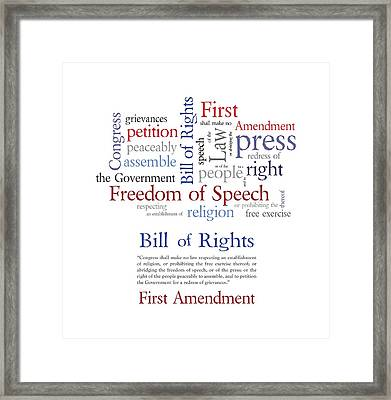 First Amendment Freedom Of Speech Framed Print by Antique Images